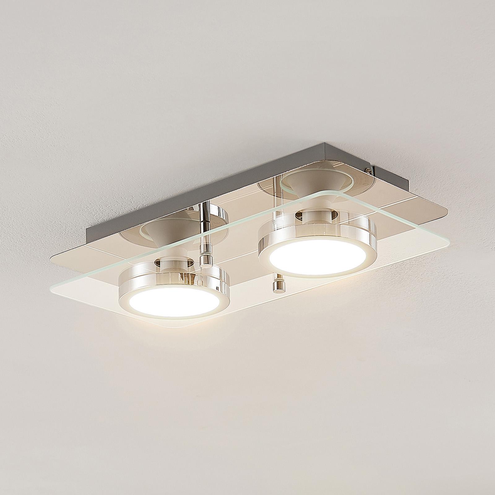 Lindby Gabryl LED-kattovalaisin, kaksilamppuinen