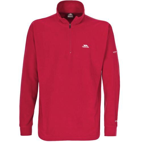 Trespass Unisex 1/4 Zip Fleece Various Colours Masonville - Red S