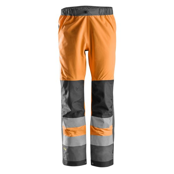 Snickers 6530 AllroundWork Kuorihousut heijastimet, oranssi XS
