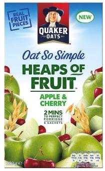 Quaker Oats So Simple Heaps of Fruit Apple & Cherry 289g