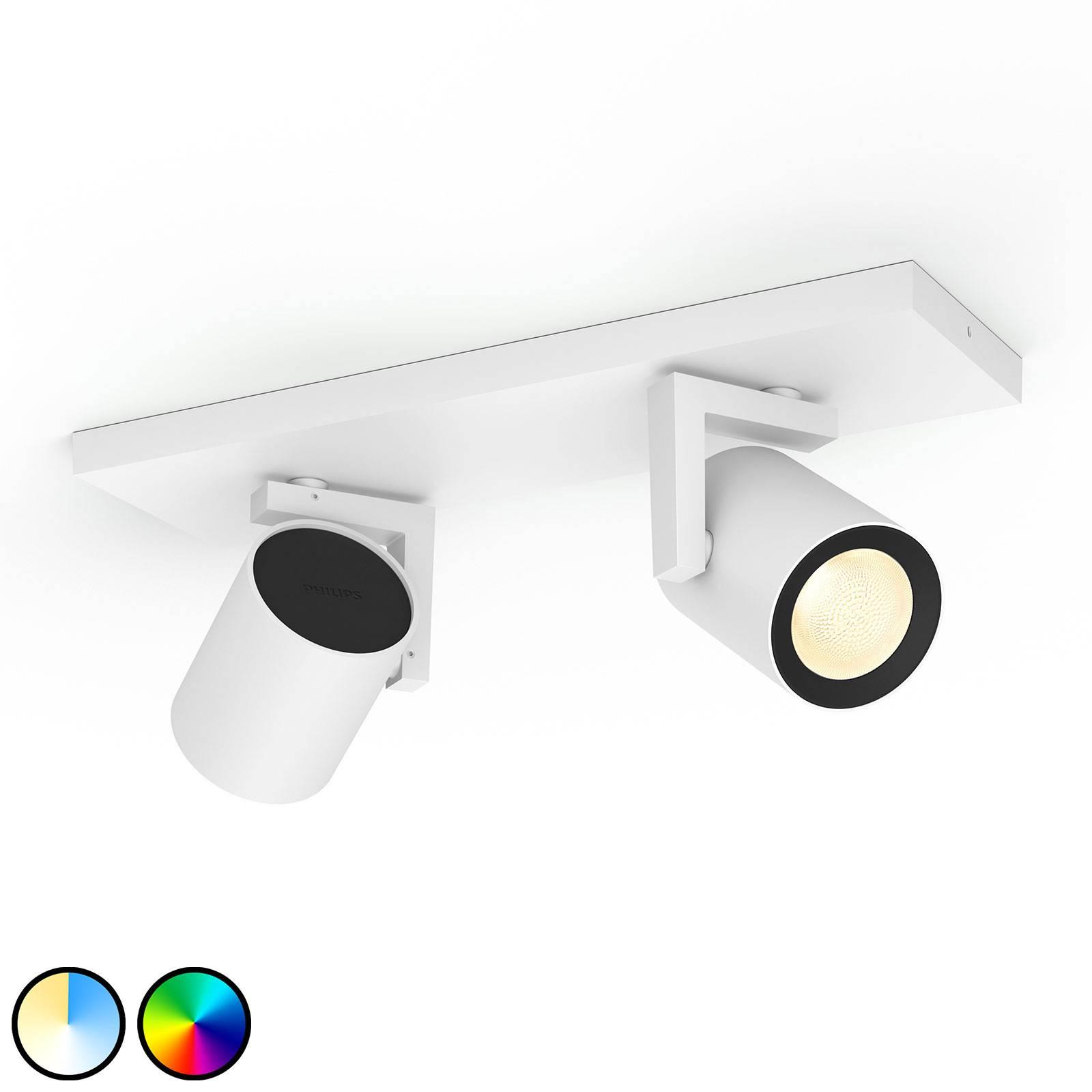 Philips Hue Argenta -LED-spotti 2-lamp., valkoinen