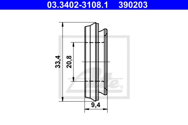 Kumisuojus, jarrusylinteri ATE 03.3402-3108.1