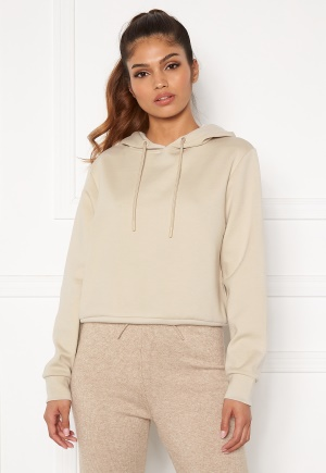 ONLY Joy L/S Hood Sweater Silver Lining M