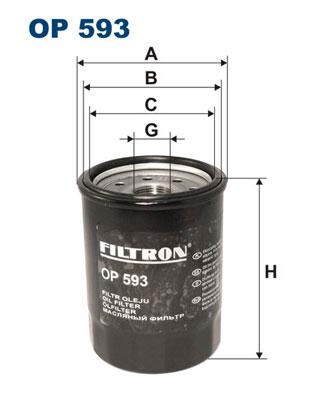 Öljynsuodatin FILTRON OP 593