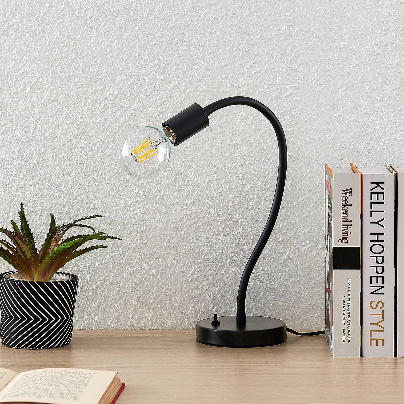 Lindby Aurina -pöytälamppu, joustava valaisinvarsi