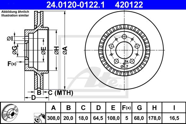 Jarrulevy ATE 24.0120-0122.1