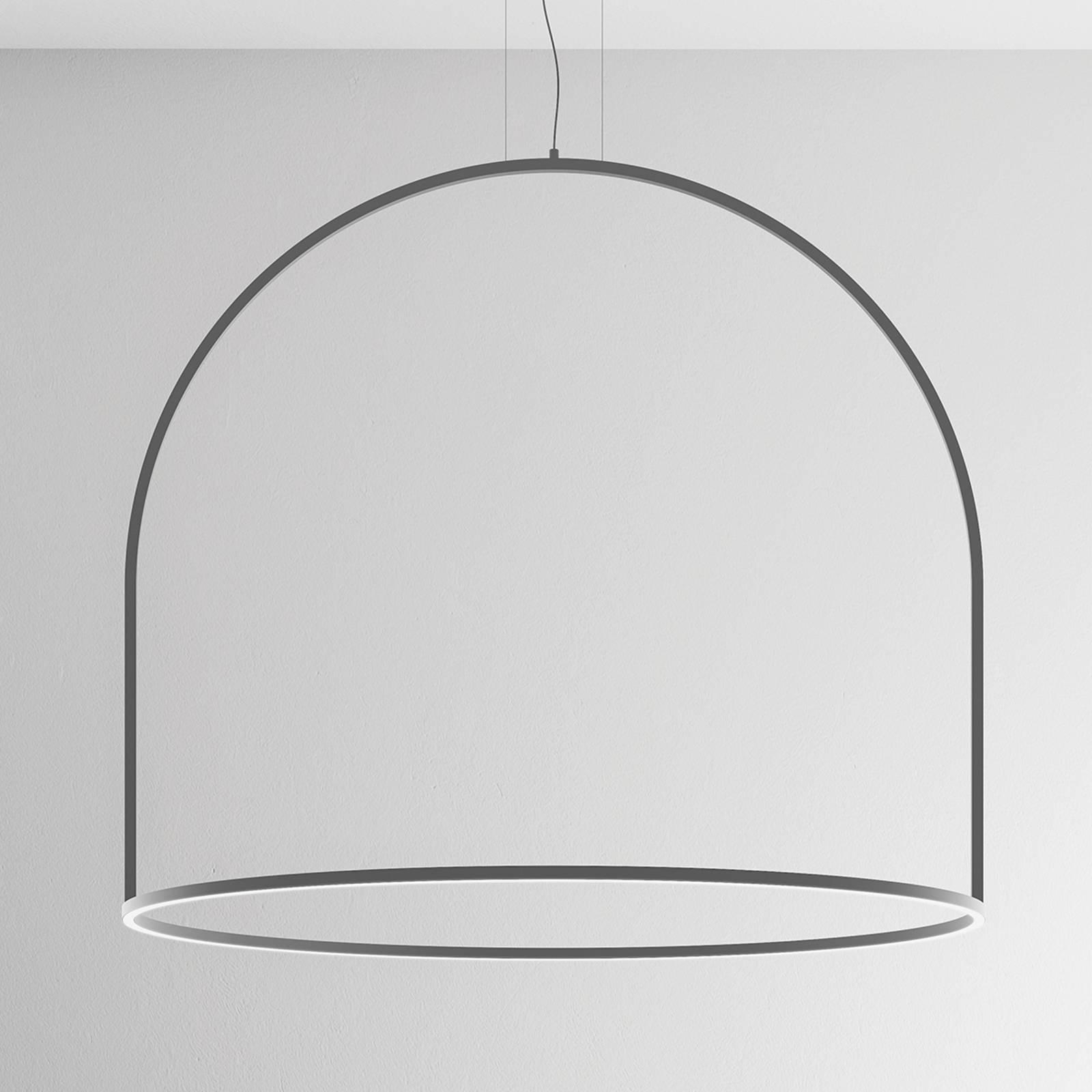 Pyöreästi muotoiltu U-Light-LED-riippuvalaisin