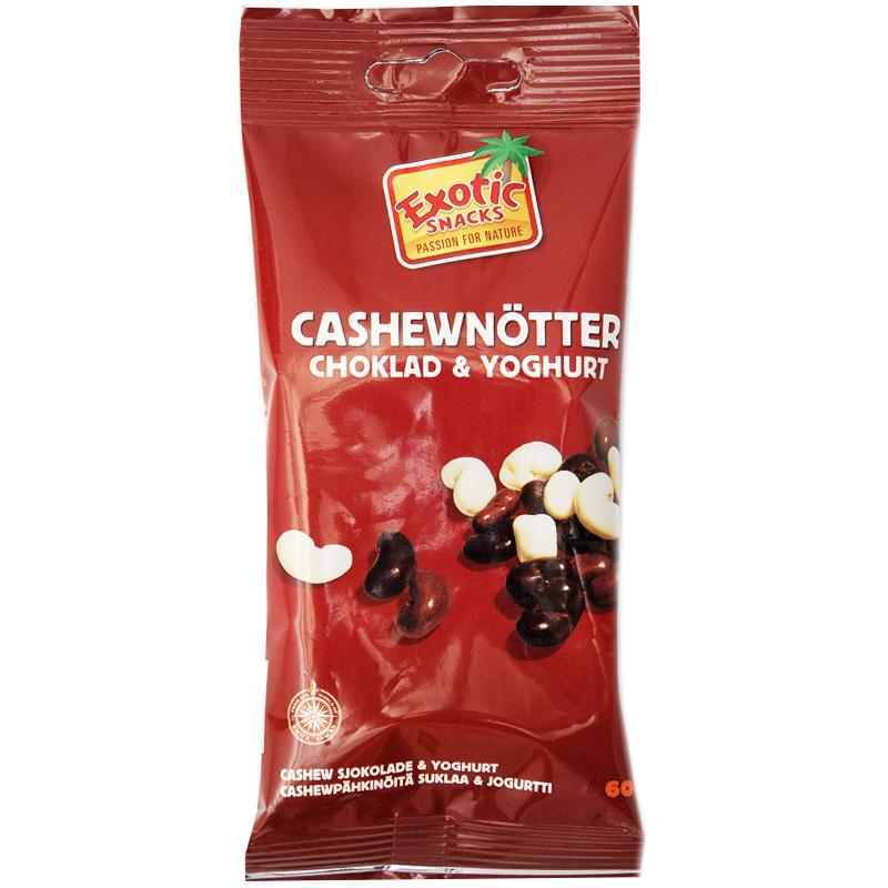Snacksmix Cashewnötter, Choklad & Yoghurt 60g - 74% rabatt