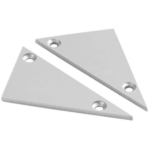 Hide-a-Lite Wedge Päätykappale alumiinia, 2 kpl/pakkaus