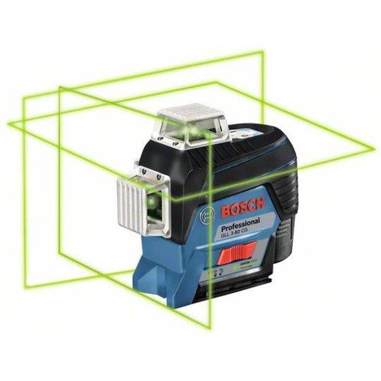 Bosch GLL 3-80 CG Ristilaser vihreä, sis. L-BOXX-laukun, ilman akkuja ja laturia