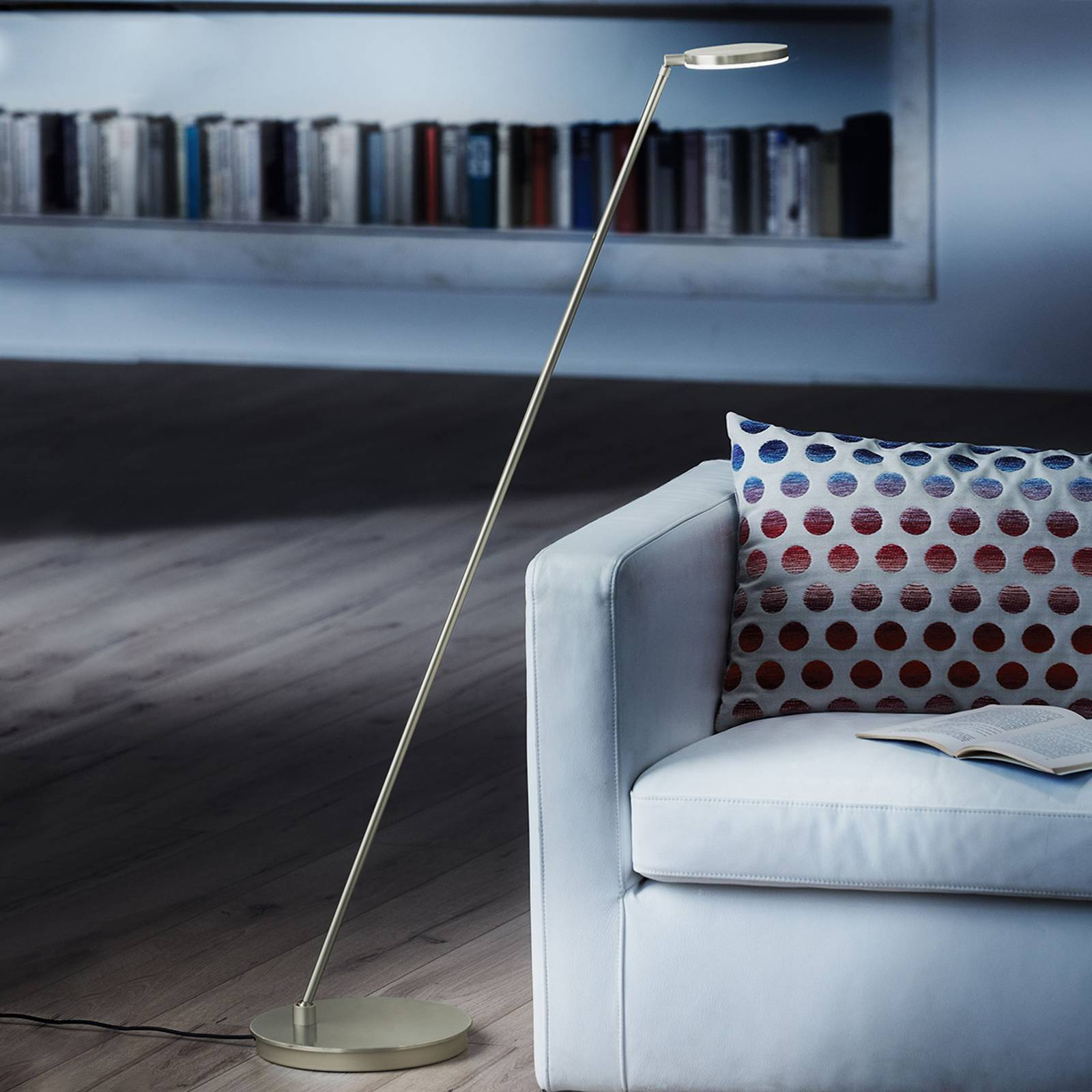 Holtkötter Plano S -LED-lattiavalo, platina