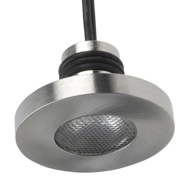 Designlight P-118SS Downlight 3000 K, 1,2 W rustfritt stål