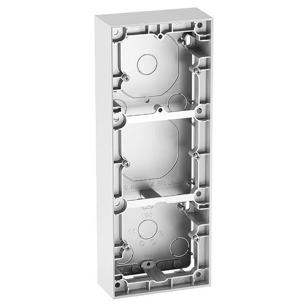 Elko Plus Forhøyningsramme 35 mm, aluminium 3 enheter