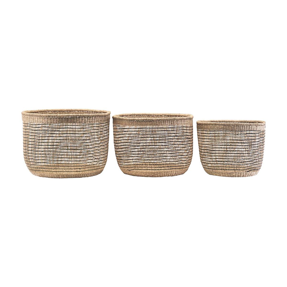 House Doctor - Shape Mix Basket Set Of 3 - Nature (At5201/209805201)