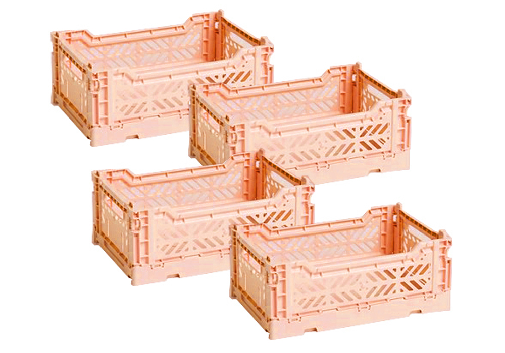 HAY - Colour Crate Set of 4 - Salmon