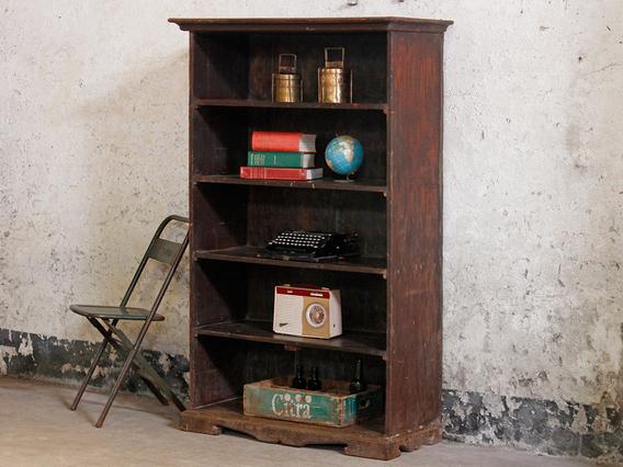Tall Vintage Shelving Unit Brown