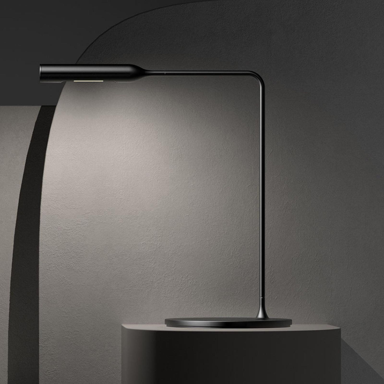 Lumina Flo Bedside -LED-pöytälamppu, musta