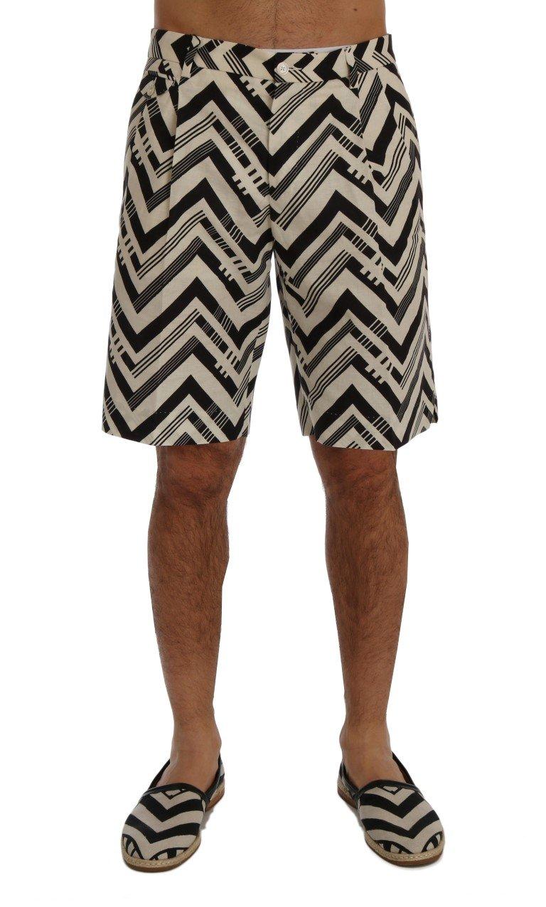 Dolce & Gabbana Men's Striped Cotton Linen Shorts Multicolor SIG60408 - IT44 | XS