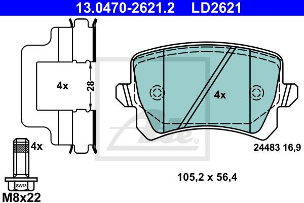 Jarrupalasarja, levyjarru ATE 13.0470-2621.2