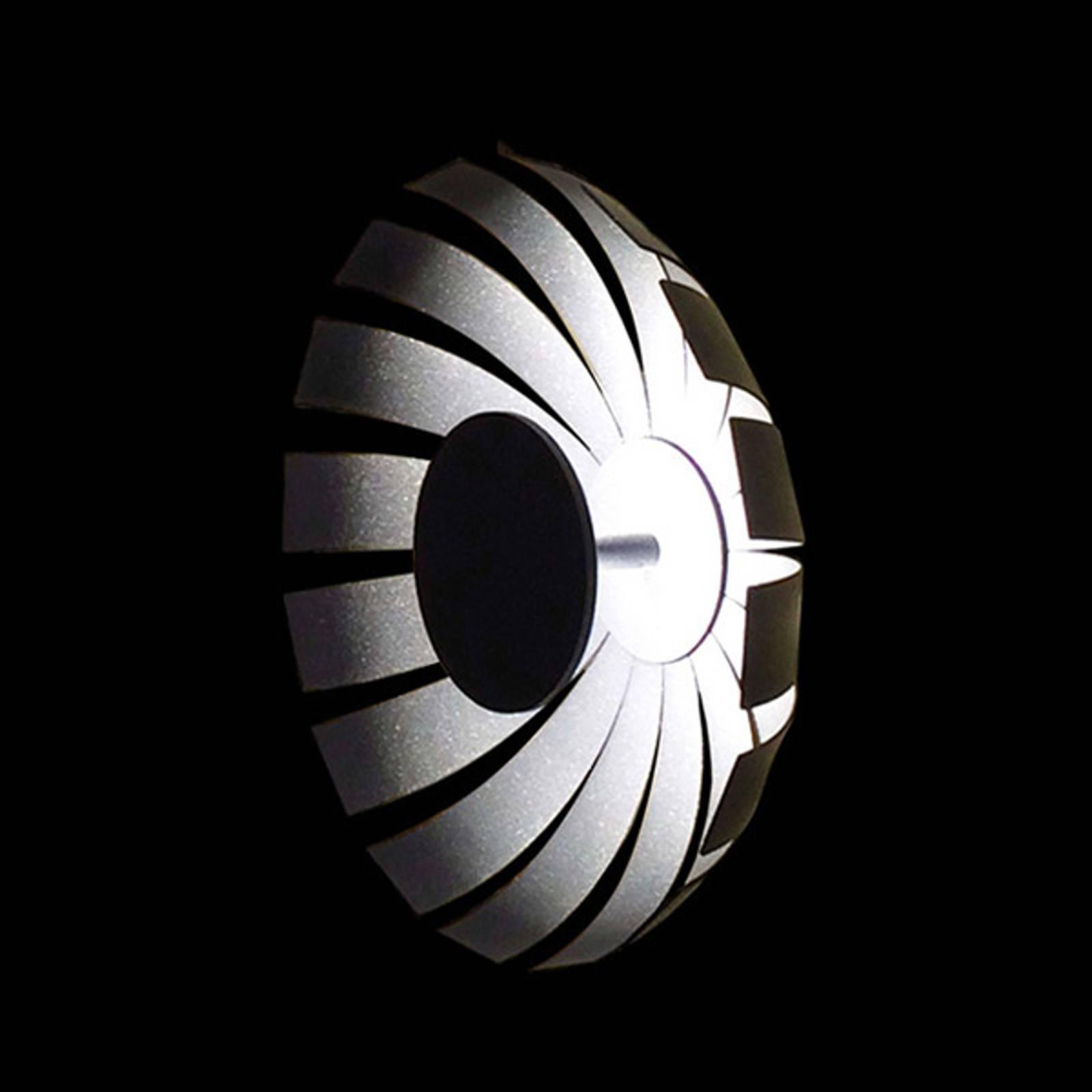 LED-design-seinävalaisin Loto, antrasiitti, 27 cm