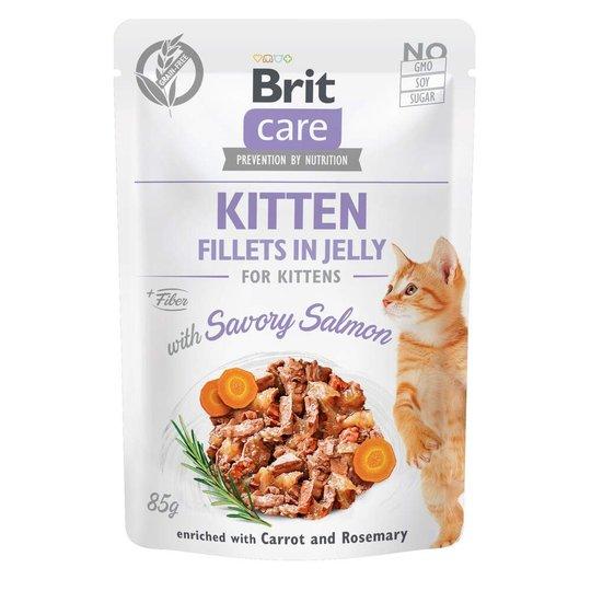 Brit Care Cat Kitten Lax i Gelé 85 g