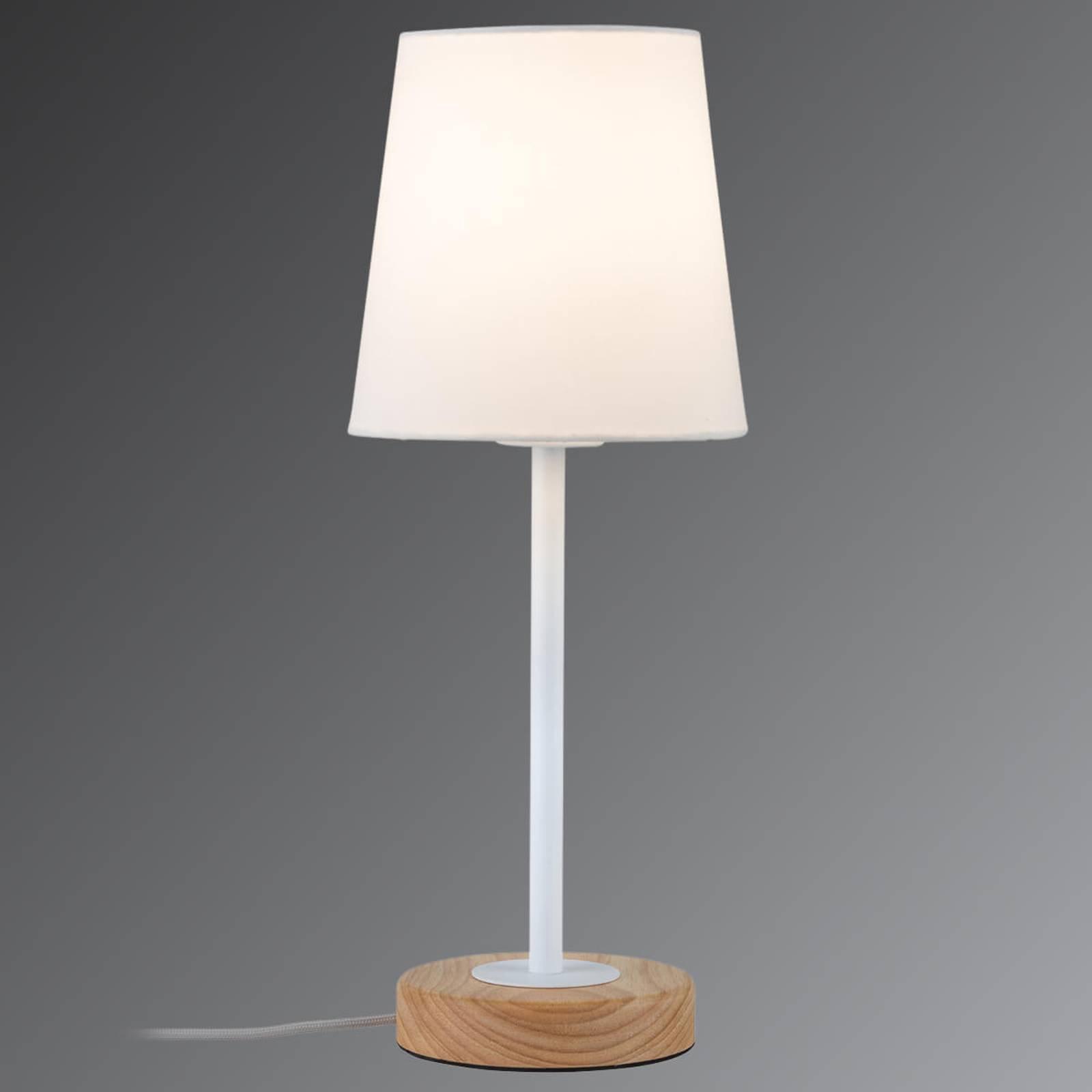 Tekstilbordlampen Stellan i naturlig design