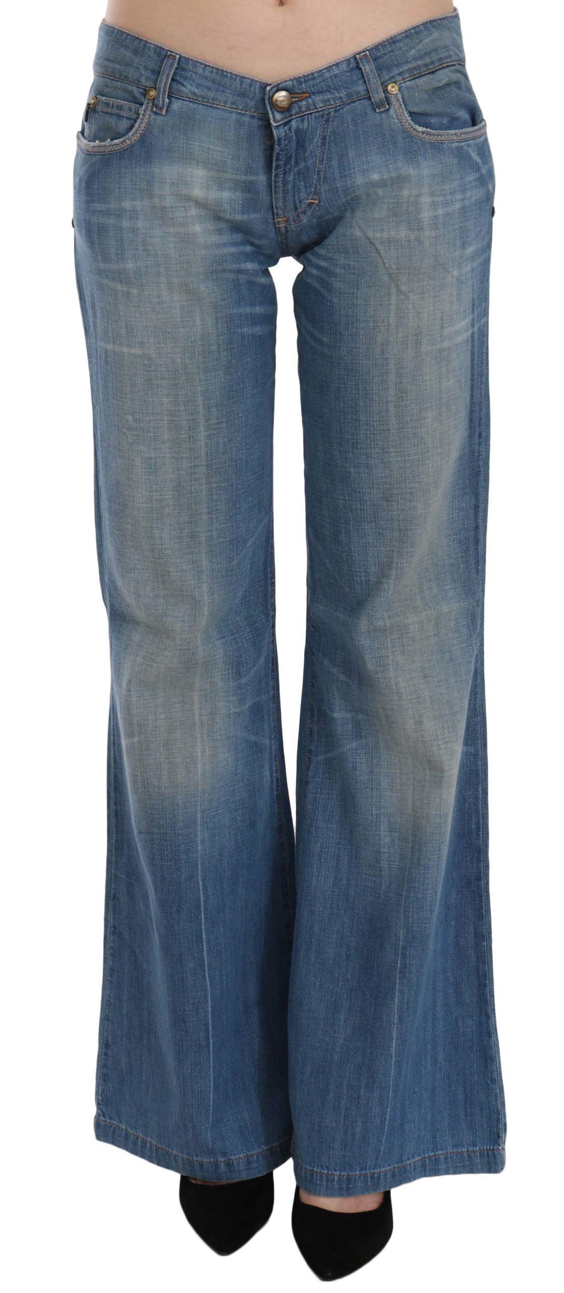 Just Cavalli Women's Low Waist Flared Denim Trouser Blue PAN70347 - W29