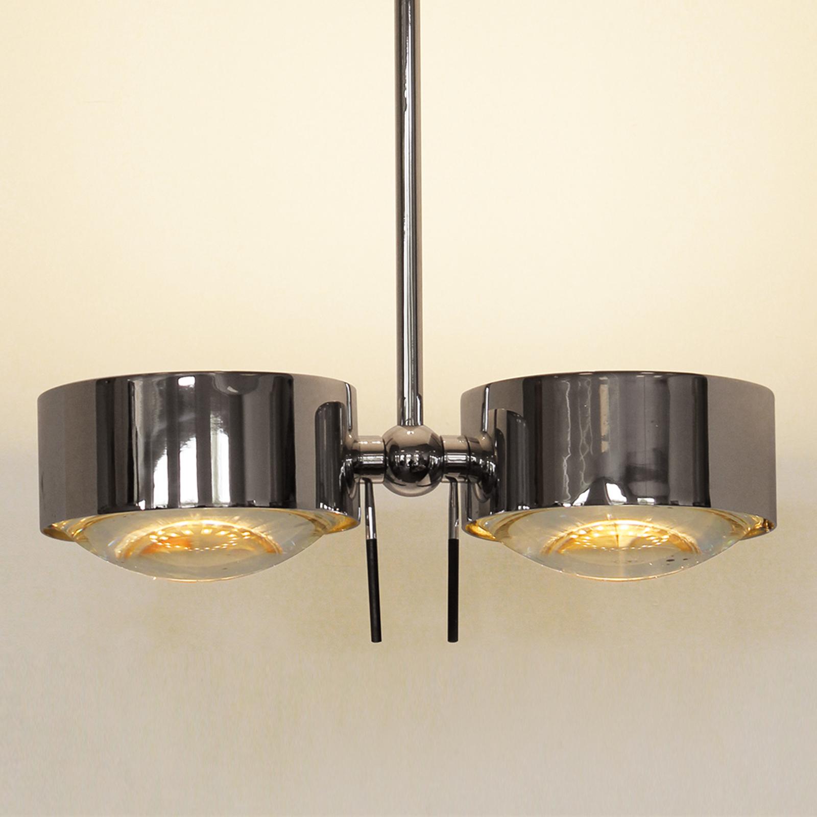 2-lamppuinen kattovalaisin PUK SIDES, kromi, 30 cm