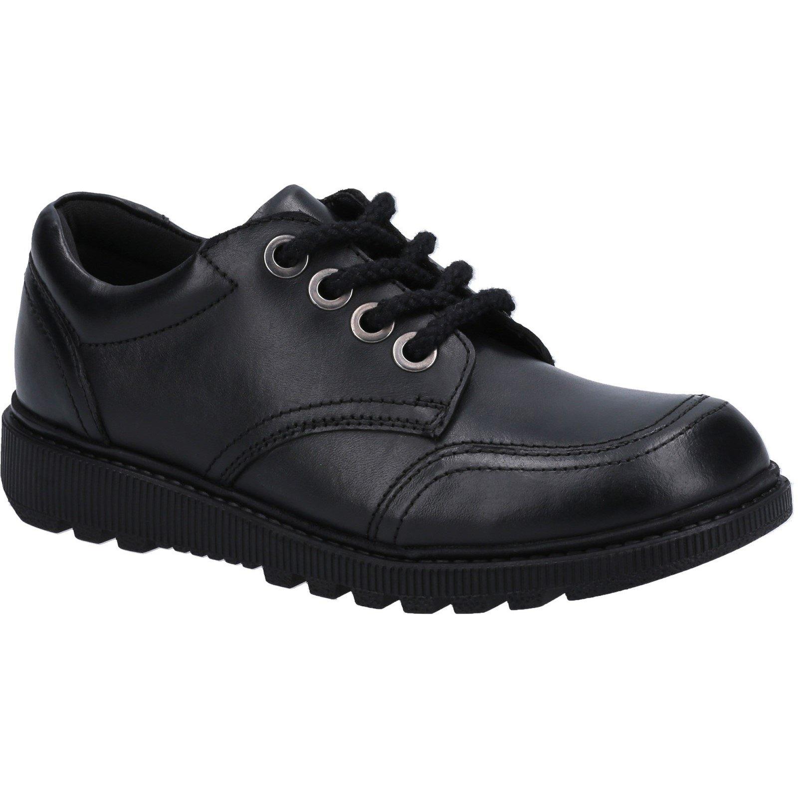 Hush Puppies Kid's Kiera Junior School Shoe Black 30821 - Black 12