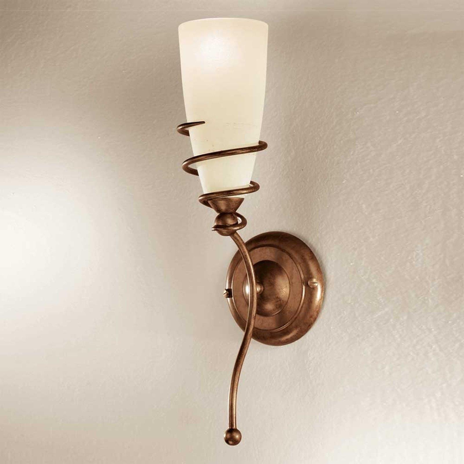 Vegglampe Daniele av antikk messing