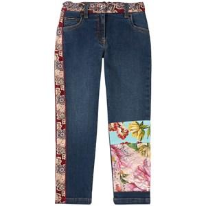 Dolce & Gabbana Floral Denim Jeans Marinblå 6 år