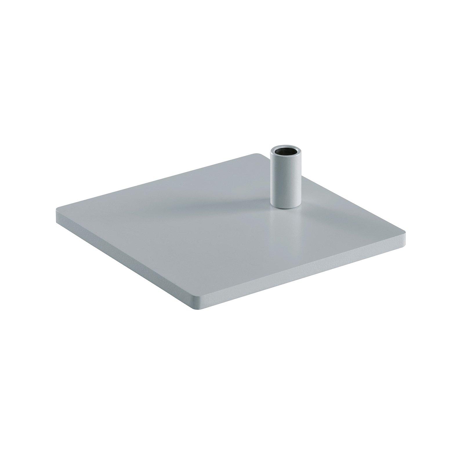 Fot kantet bordlampe PARA.MI FTL sølv