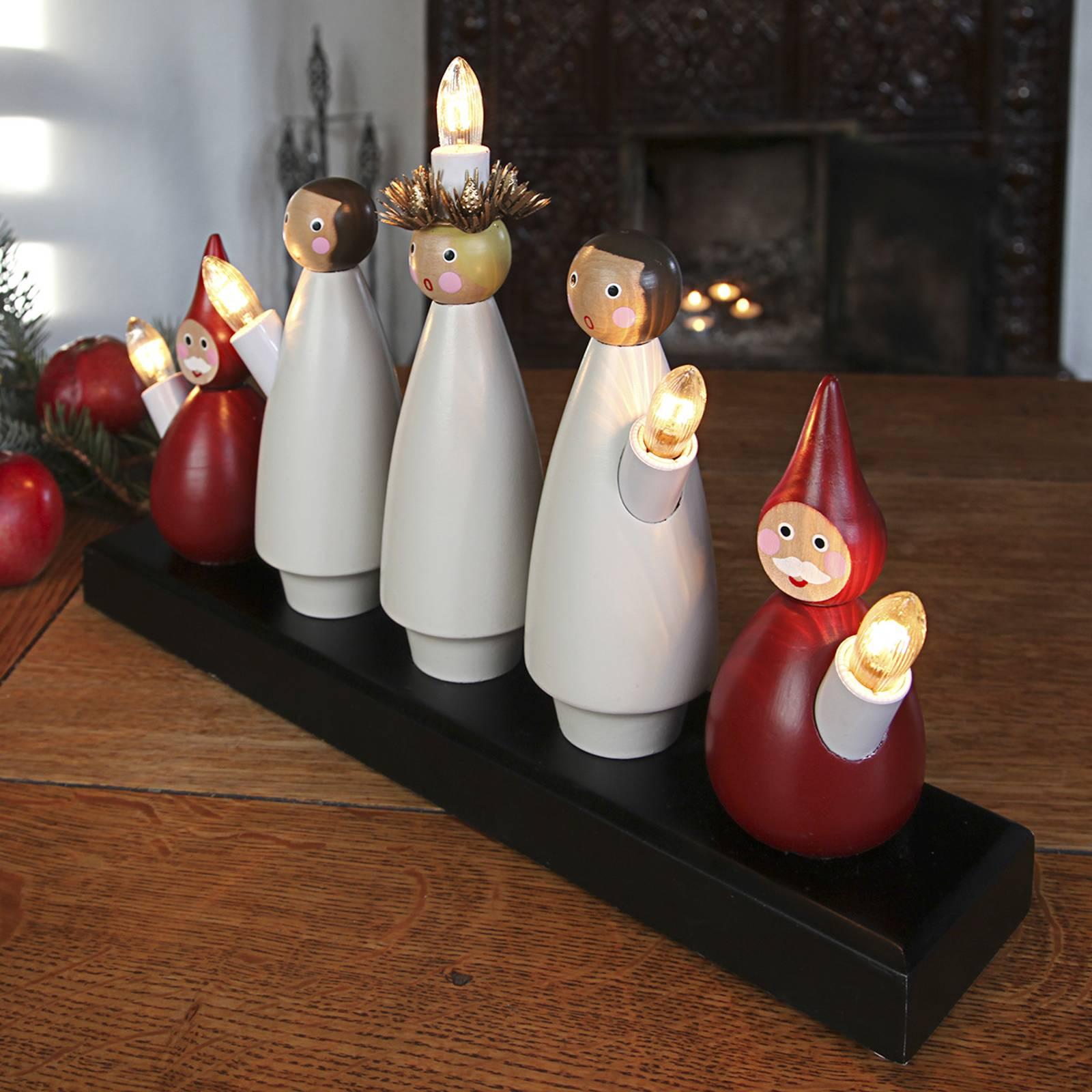 Luciakör-kynttelikkö, Lucia-kulkue, 5-lamppuinen