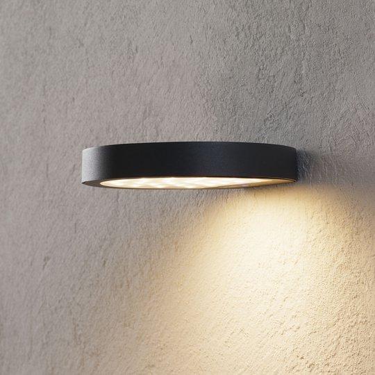 Aurinkokäyt. LED-ulkoseinävalo Linja, tummanharmaa