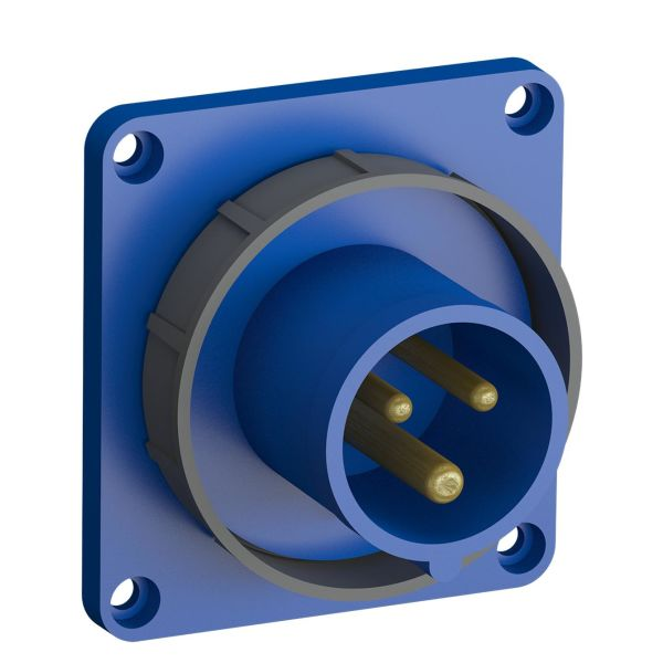 ABB 2CMA102302R1000 Panelinntak hurtigtilkoblet, vibrasjonsbestandig Rett, 3-polet, 16 A