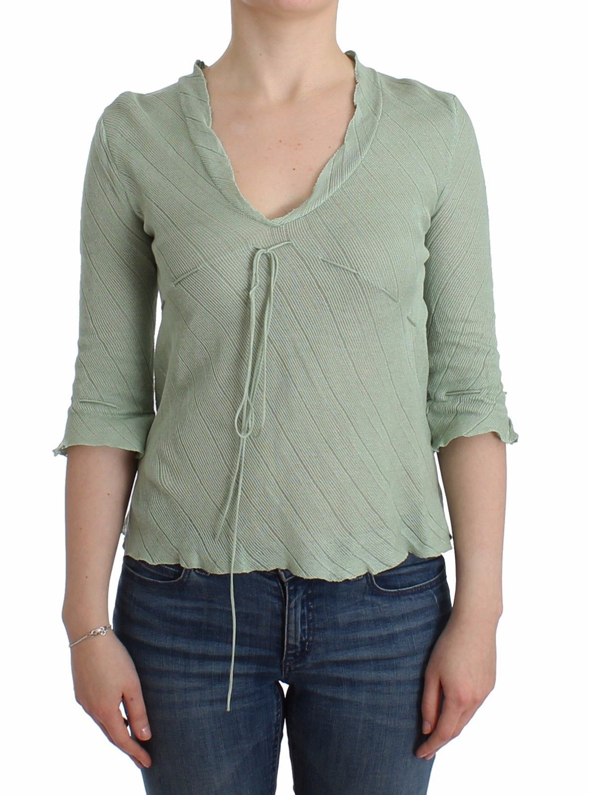 Ermanno Scervino Women's Knit Sweater Green SIG12013 - IT44 | M