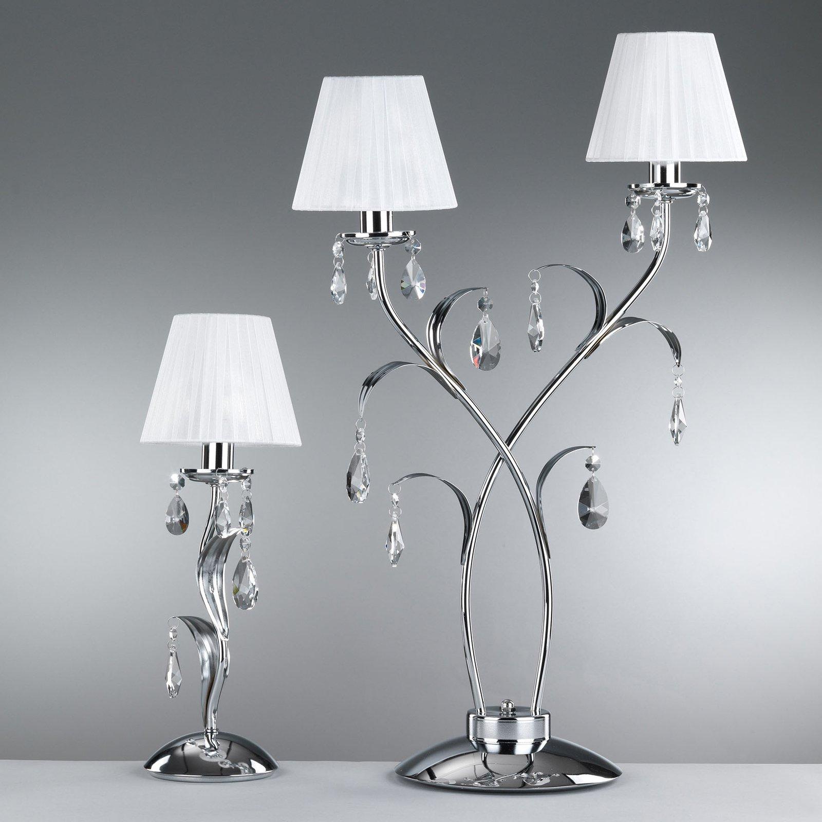 Bordlampe Jacqueline, 2 lyskilder, hvit