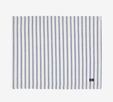 Icons Cotton Herringbone Bordstablett Blå/Vit 40x50cm