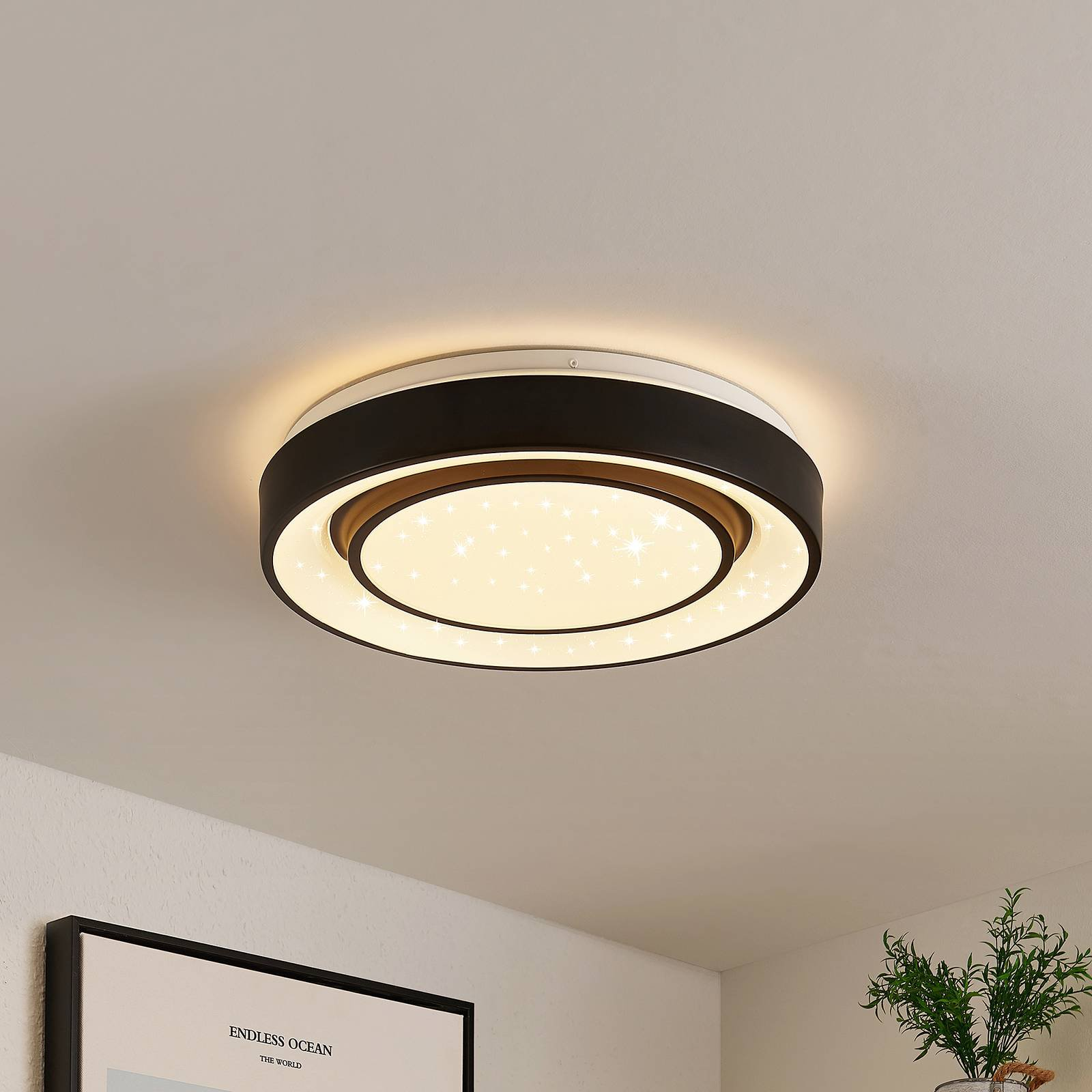 Lindby Gamino LED-taklampe, RGBW, CCT, 38 cm