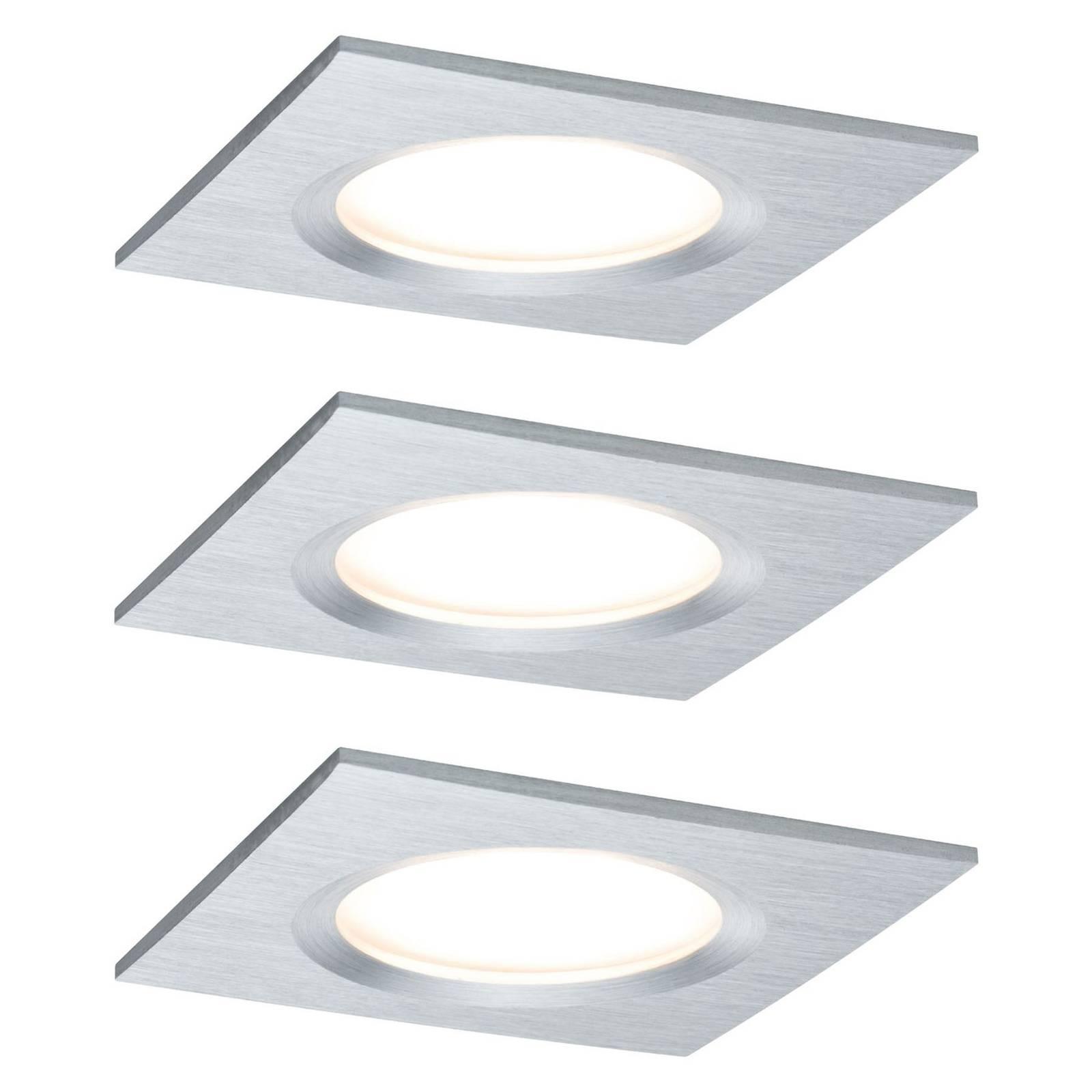 Paulmann Coin Slim upotettava LED-kohdevalo 3 kpl