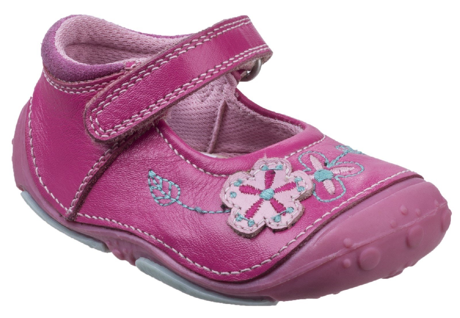 Hush Puppies Women's Lara Touch Fastening Sandal Light Blue 26392 - Light Pink 2