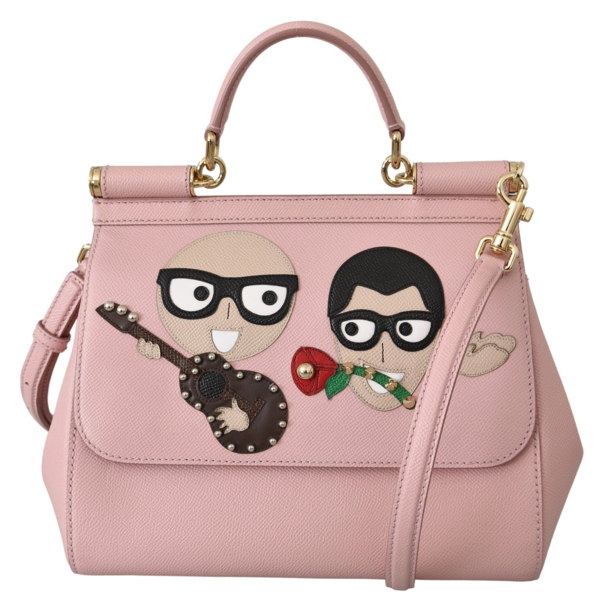 Dolce & Gabbana Women's Leather #dgfamily Shoulder Bag Pink VAS9787