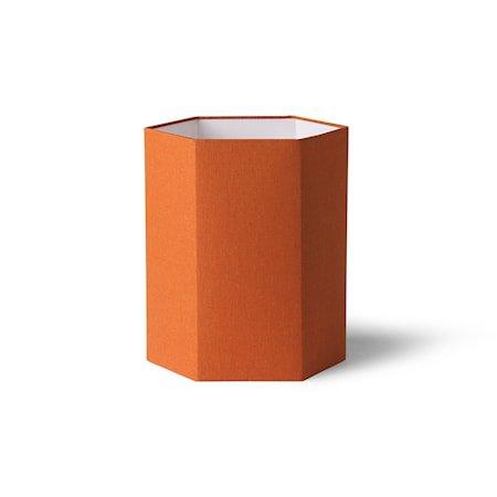 Hexagonal Lampeskjerm Orange Jute M