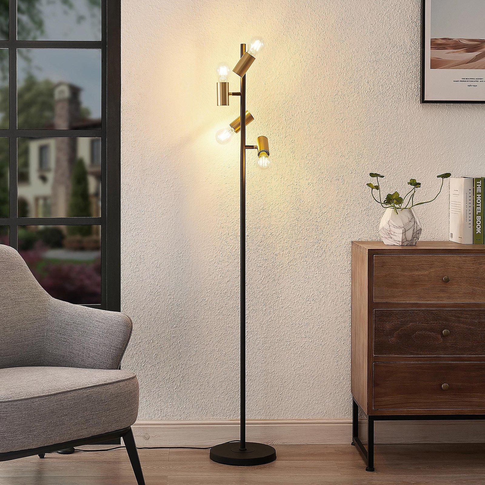 Lindby Idis gulvlampe, fire lyskilder