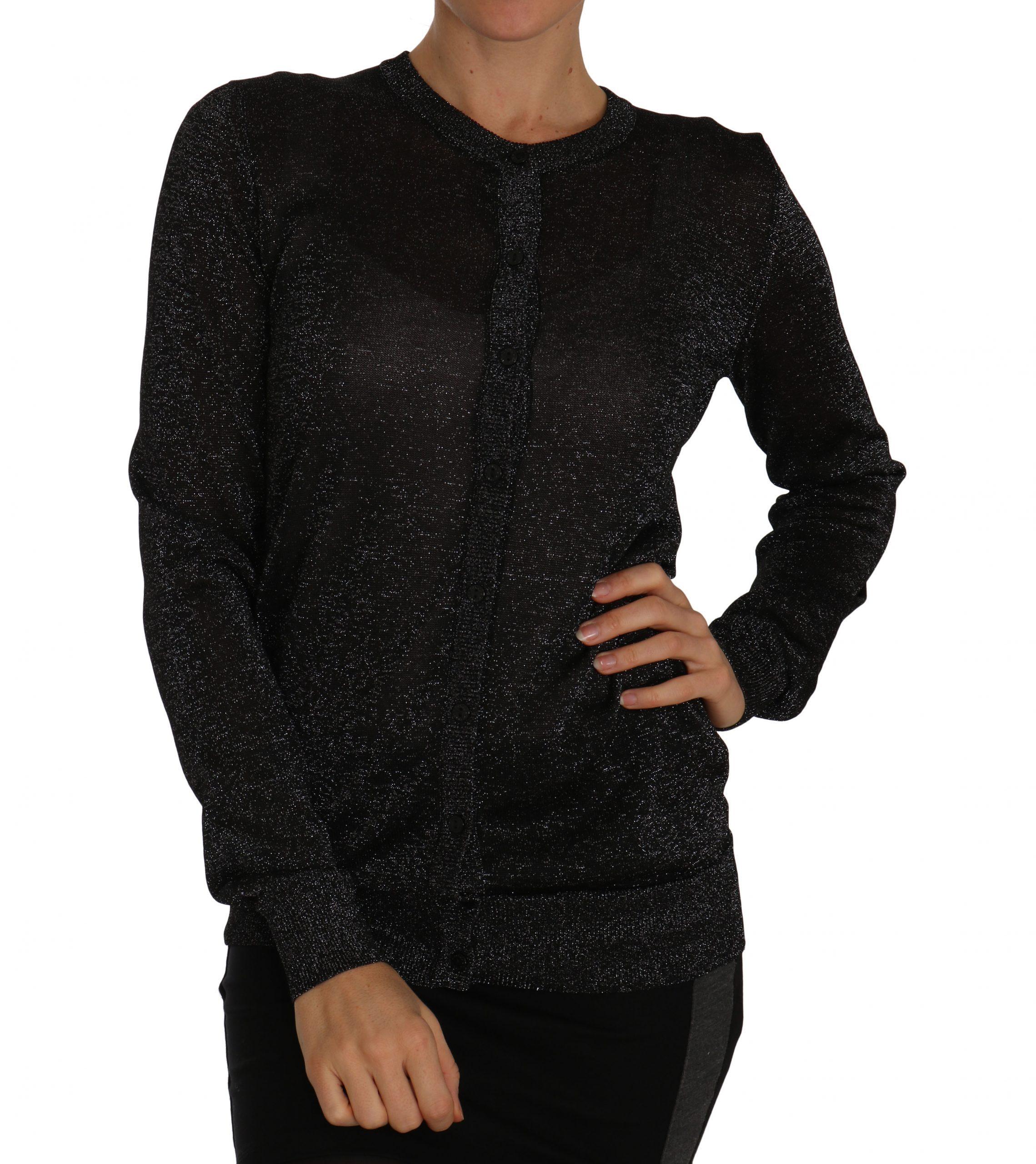Dolce & Gabbana Women's Lightweight Cardigan Black TSH2264 - IT40|S