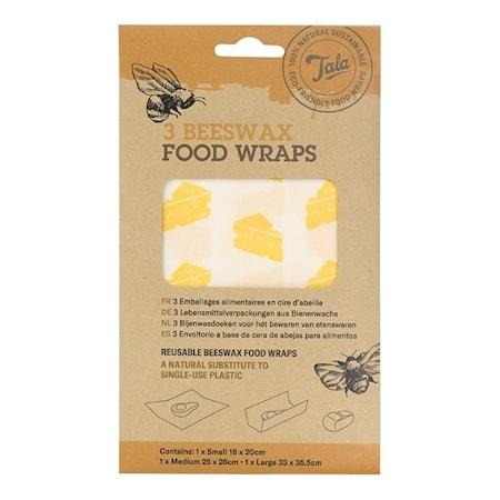 Tala Cheese Food Wax Wraps set av 3