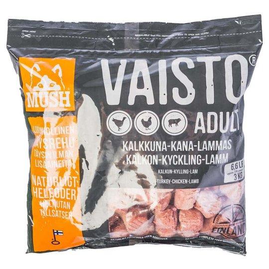 MUSH Vaisto® Grå Kalkon, Kyckling & Lamm 3 kg