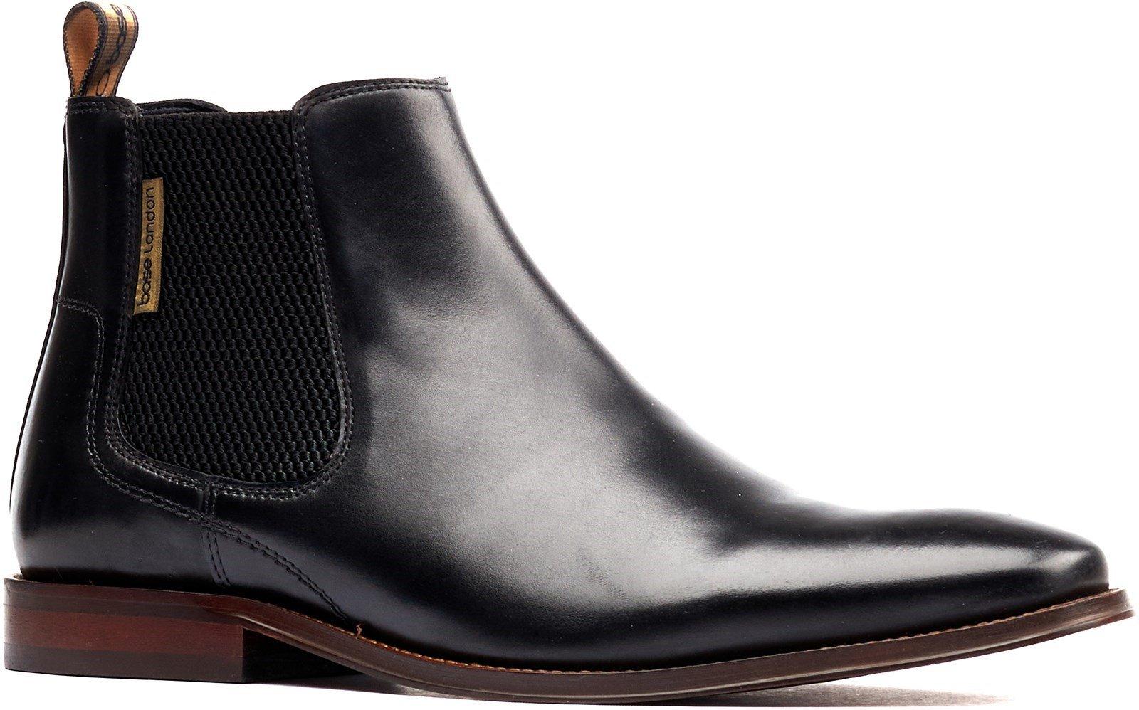 Base London Men's Sikes Chelsea Boot Various Colours 32251 - Black 7