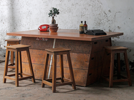 Upcycled Vintage Vaulting Horse Table Large
