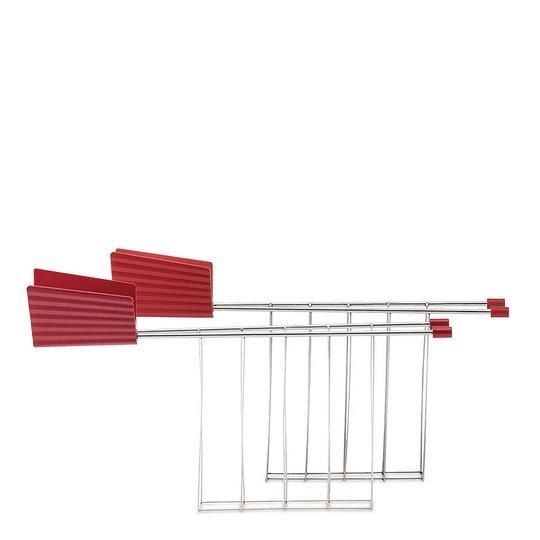 Alessi - Plissé Toastgaller Röd